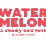 Watermelon Bold Font