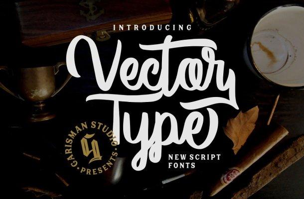 Vector Type Script Font