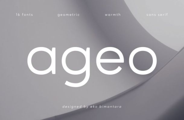 Free Ageo Geometric Sans Font Family