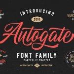 Autogate Family Font