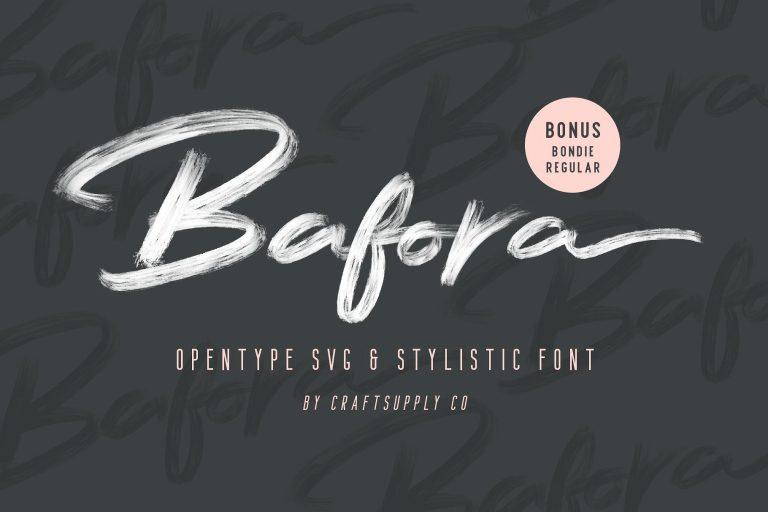 Bafora Brush Font