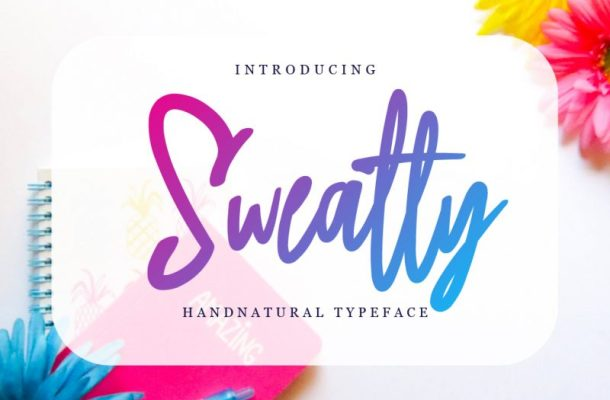 Sweatty Handwritten Natural Font