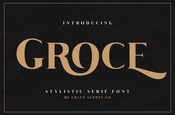 Free Groce Stylistic Serif Font