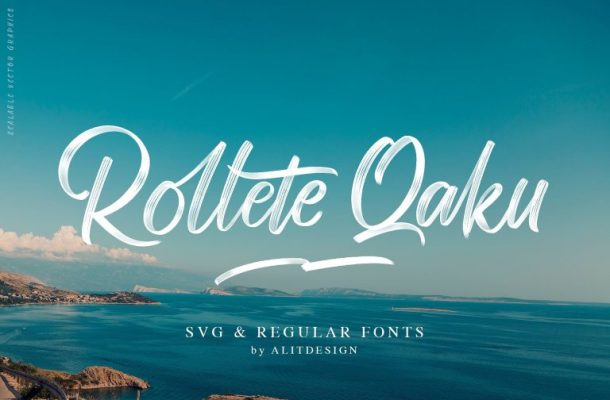 Rollete Qaku Brush Font