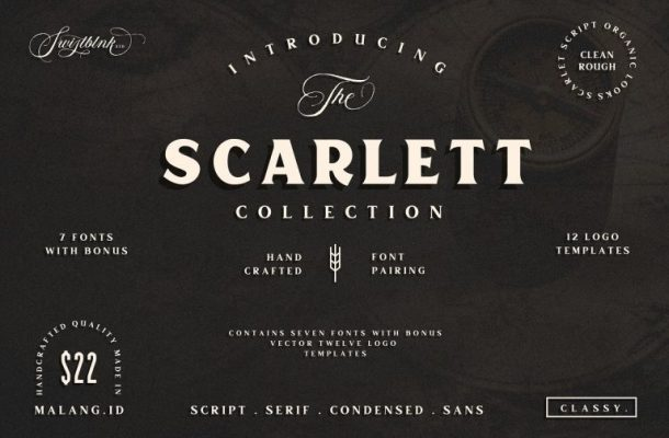 Free Scarlett Typeface