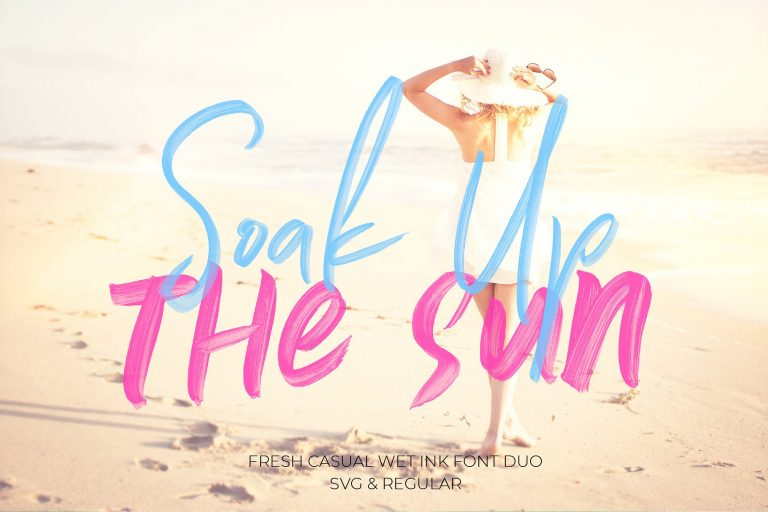 Soak Up The Sun Brush Font