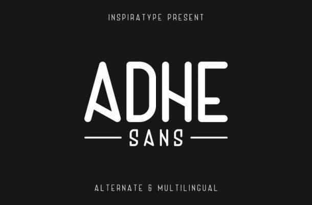 Adhe Sans Typeface