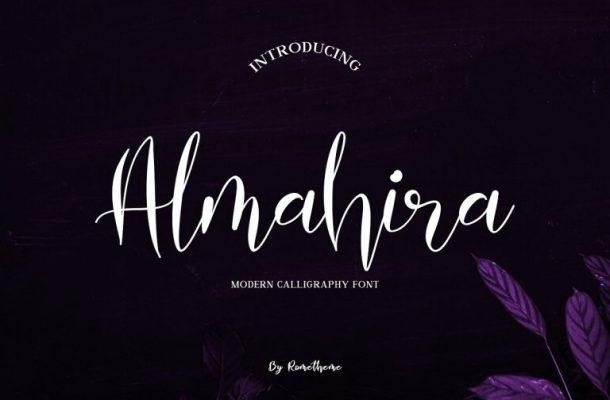 Almahira Script Font