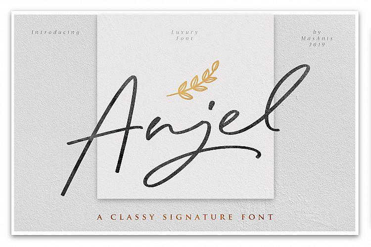 anjel-signature-font