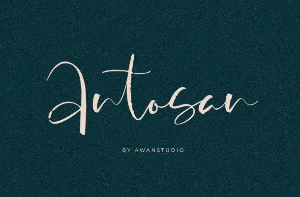 Free Antosan Script Font