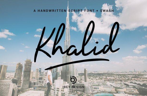 Khalid Handwritten Font