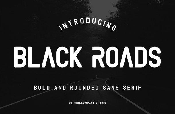 Black Roads Font