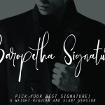 Baropetha Signature Demo Font