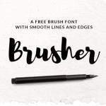 Free Brusher Font