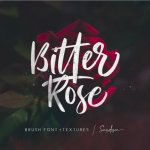 Free Bitter Rose Brush Script