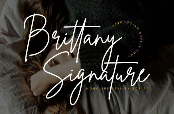 Brittany Signature Font