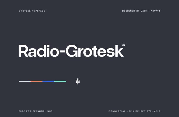 Free Radio Grotesk Font