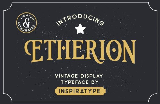 Etherion Vintage Display Font