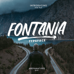 Fontania Brush Font