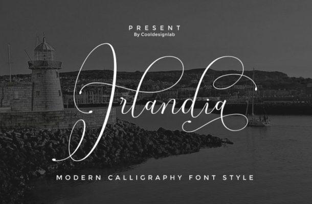Irlandia Calligraphy Font