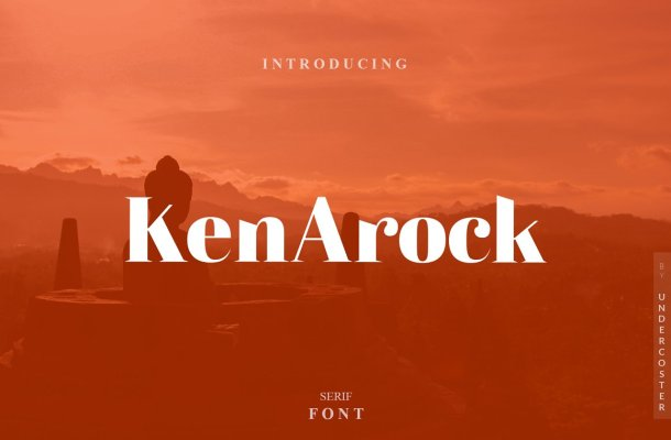 Kenarock Serif Font