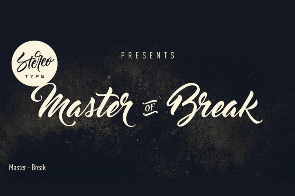 master-of-break-font