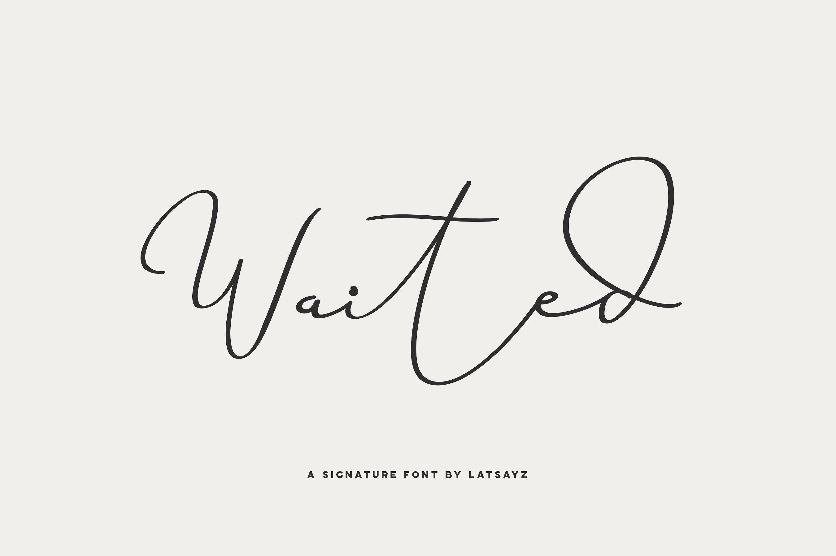 miss-waited-signature-font