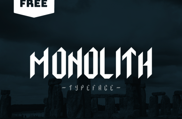 Monolith Display Typeface