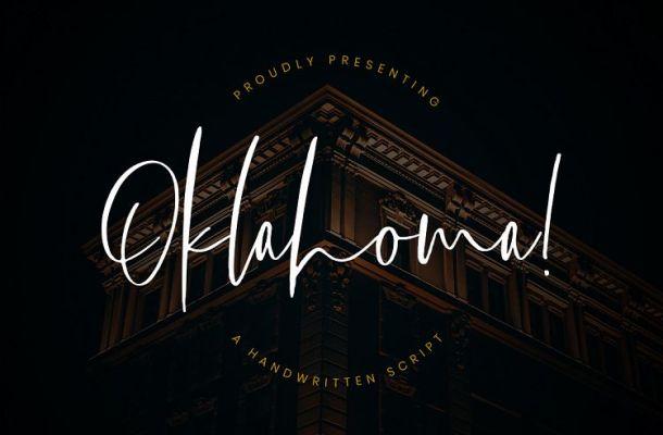 Oklahoma Handwritten Font