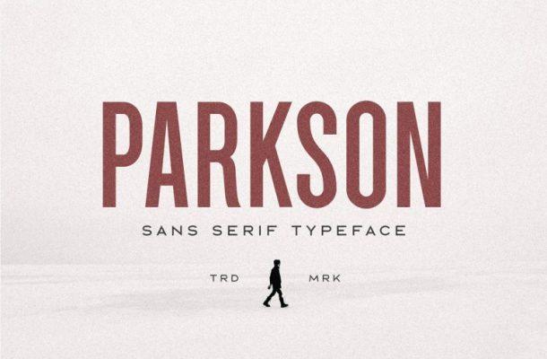 Parkson Sans Font Demo