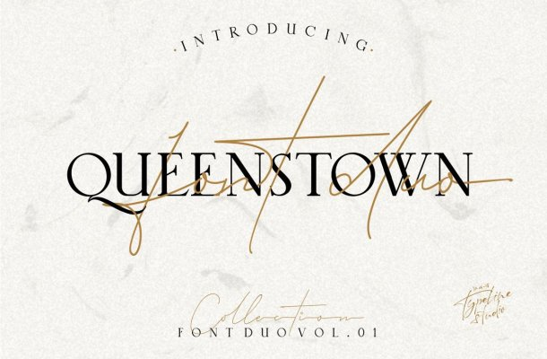 Queenstown Signature Font