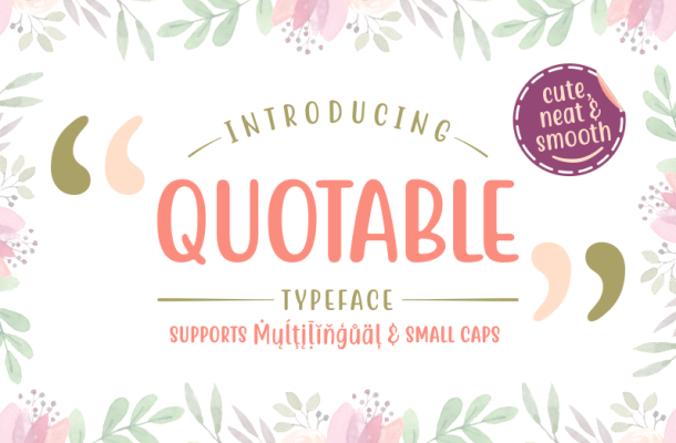 Free Quotable Display Font