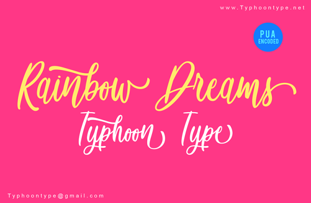 Rainbow Dreams Font