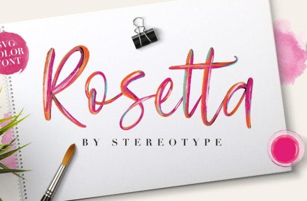 Rosetta Color SVG Font