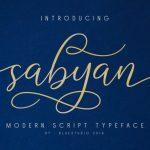 Sabyan Script Font