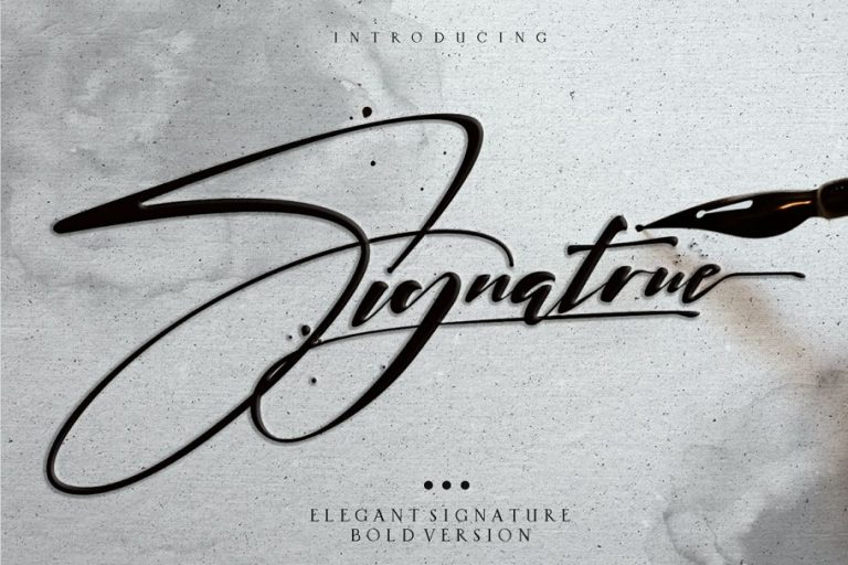 signatrue-elegant-signature-font-768x512