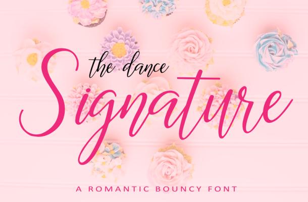 The Dance Signature Font