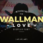 Wallman Love Display Font