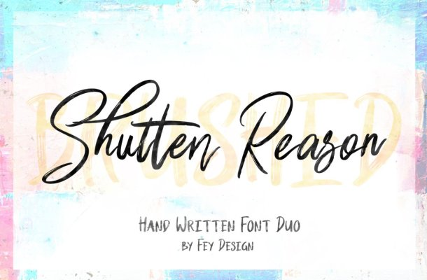 Shutten Reason Font