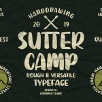 SUTTER CAMP Typeface