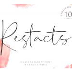 Restacts Handwritten Font