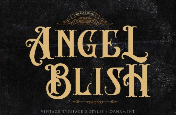 Angel Blish Typeface