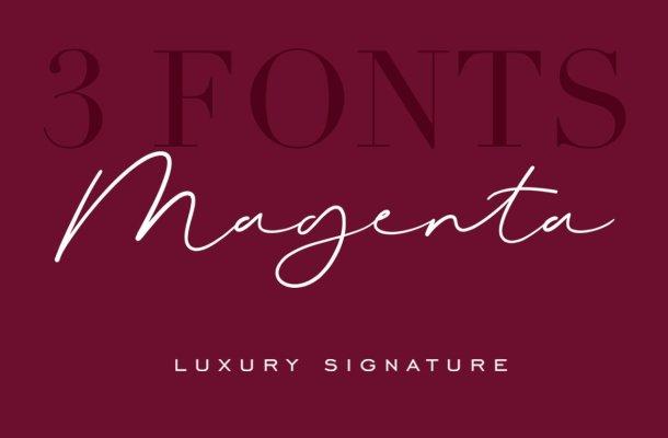 Magenta Signature Font