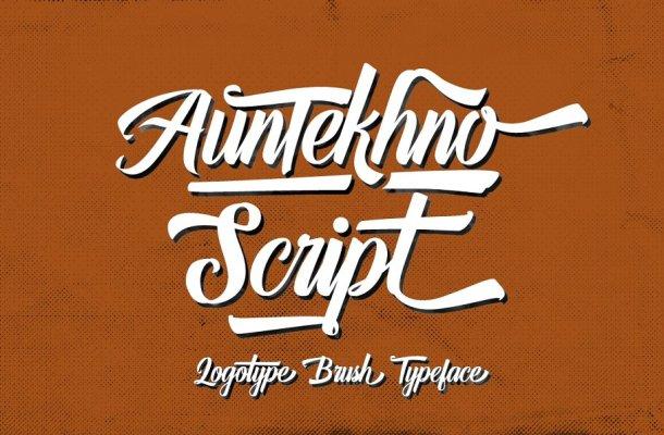 Auntekhno Script Font