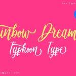 Rainbow Dreams Script Font