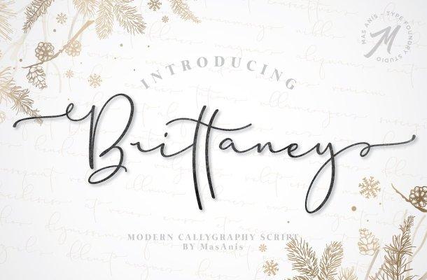 Brittaney Script Font