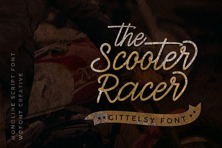 Gittelsy Monoline Script Font-2