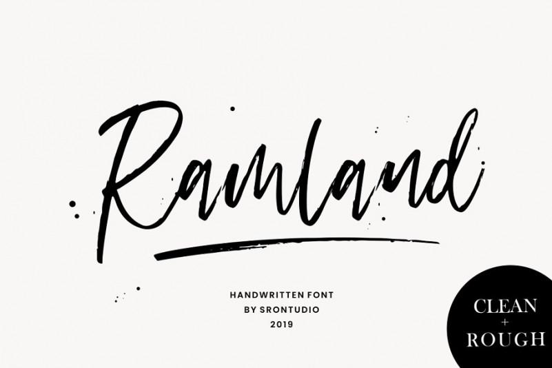 Ramland Handwritten Font