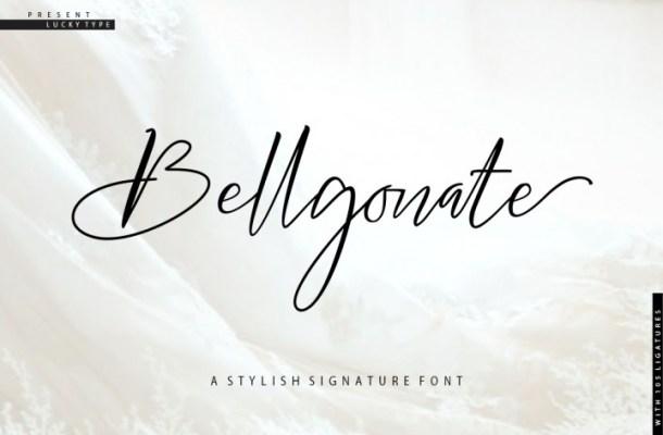 Bellgonate Signature Font