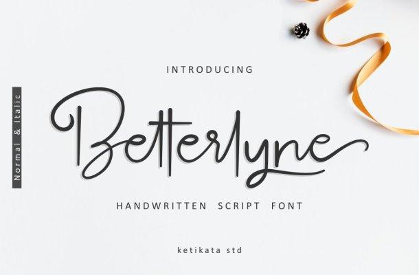 Betterlyne Script Font